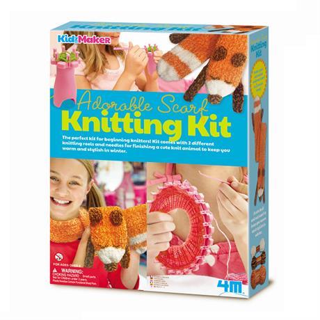 набор для творчества 4m комплект для вязания шарф 00 04722 оптом