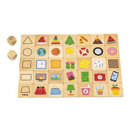 Деревянный пазл-игра Viga Toys Изучаем формы (44506)