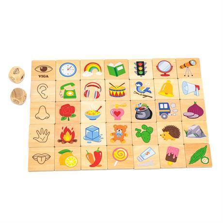 Деревянный пазл-игра Viga Toys Изучаем чувства (44507)
