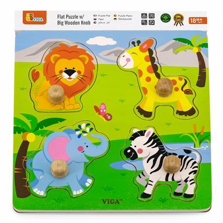 Деревянная рамка-вкладыш Viga Toys Зверята в Африке (50840)